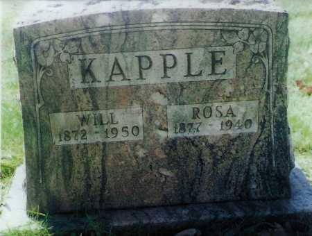 KAPPLE, ROSA - Meigs County, Ohio   ROSA KAPPLE - Ohio Gravestone Photos