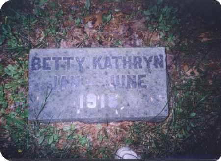 UNKNOWN, BETTY KATHRYN - Meigs County, Ohio   BETTY KATHRYN UNKNOWN - Ohio Gravestone Photos