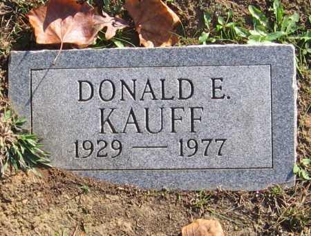 KAUFF, DONALD E. - Meigs County, Ohio   DONALD E. KAUFF - Ohio Gravestone Photos