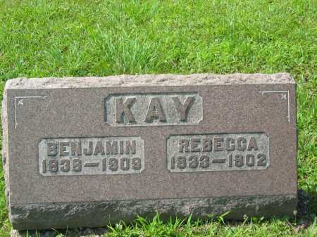 KAY, BENJAMIN - Meigs County, Ohio | BENJAMIN KAY - Ohio Gravestone Photos