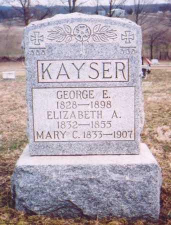 KAYSER, ELIZABETH A. - Meigs County, Ohio | ELIZABETH A. KAYSER - Ohio Gravestone Photos