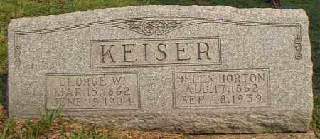 HORTON KEISER, HELEN - Meigs County, Ohio | HELEN HORTON KEISER - Ohio Gravestone Photos