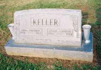 COLEMAN KELLER, LENA - Meigs County, Ohio | LENA COLEMAN KELLER - Ohio Gravestone Photos