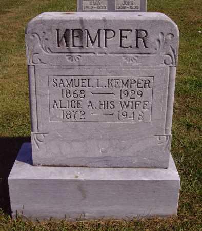 KEMPER, SAMUEL L. - Meigs County, Ohio | SAMUEL L. KEMPER - Ohio Gravestone Photos