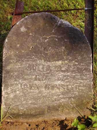 KENSLER, JULIA A. - Meigs County, Ohio   JULIA A. KENSLER - Ohio Gravestone Photos