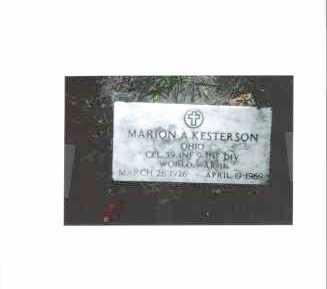 KESTERSON, MARION ALONZO - Meigs County, Ohio | MARION ALONZO KESTERSON - Ohio Gravestone Photos