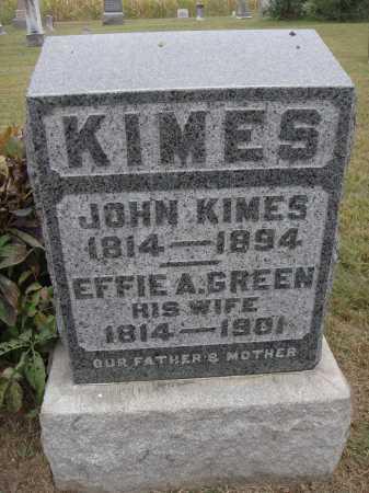 KIMES, JOHN - Meigs County, Ohio | JOHN KIMES - Ohio Gravestone Photos