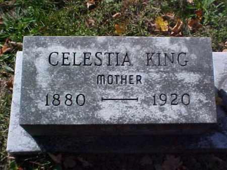 KING, CELESTIA - Meigs County, Ohio | CELESTIA KING - Ohio Gravestone Photos