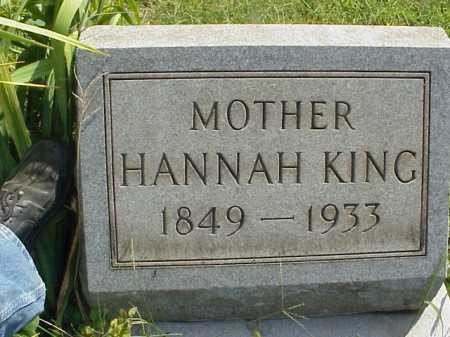 BEEBE KING, HANNAH - Meigs County, Ohio | HANNAH BEEBE KING - Ohio Gravestone Photos