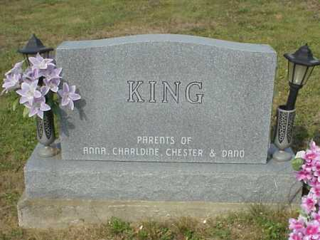 KING, MOUNMENT - BACK - Meigs County, Ohio   MOUNMENT - BACK KING - Ohio Gravestone Photos