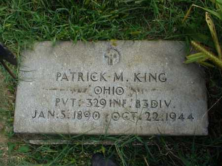 KING, PATRICK M. - Meigs County, Ohio   PATRICK M. KING - Ohio Gravestone Photos