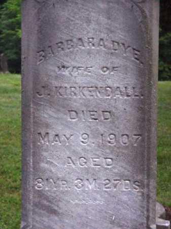 KIRKENDALL, BARBARA - Meigs County, Ohio | BARBARA KIRKENDALL - Ohio Gravestone Photos