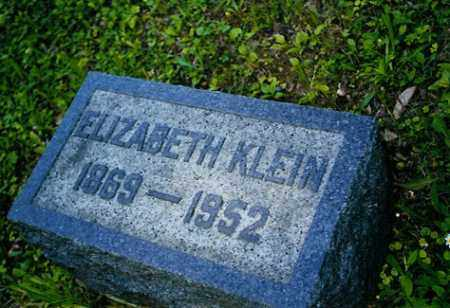 KLEIN, ELIZABETH - Meigs County, Ohio | ELIZABETH KLEIN - Ohio Gravestone Photos