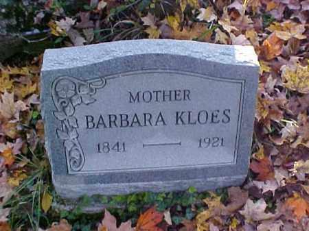 KLOES, BARBARA - Meigs County, Ohio   BARBARA KLOES - Ohio Gravestone Photos