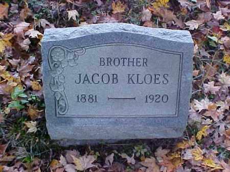 KLOES, JACOB - Meigs County, Ohio | JACOB KLOES - Ohio Gravestone Photos