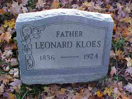 KLOES, LEONARD - Meigs County, Ohio | LEONARD KLOES - Ohio Gravestone Photos
