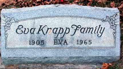 KNAPP, EVA - Meigs County, Ohio | EVA KNAPP - Ohio Gravestone Photos