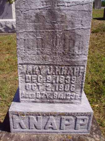 QUEEN KNAPP, MARY J. - Meigs County, Ohio   MARY J. QUEEN KNAPP - Ohio Gravestone Photos