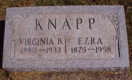 KNAPP, VIRGINIA B. - Meigs County, Ohio | VIRGINIA B. KNAPP - Ohio Gravestone Photos