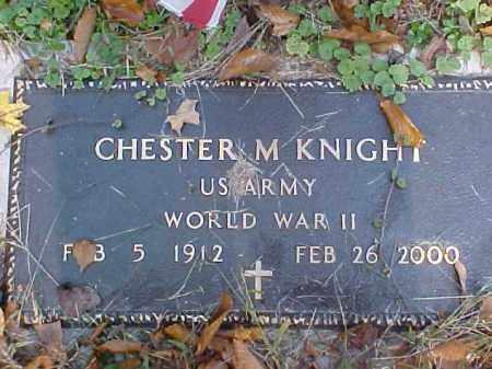 KNIGHT, CHESTER M. - Meigs County, Ohio | CHESTER M. KNIGHT - Ohio Gravestone Photos