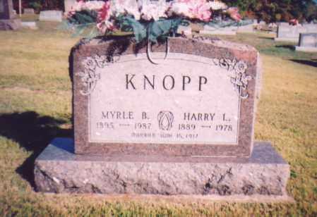 KNOPP, HARRY L. - Meigs County, Ohio   HARRY L. KNOPP - Ohio Gravestone Photos