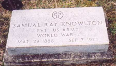 KNOWLTON, SAMUEL RAY    (MILITARY) - Meigs County, Ohio   SAMUEL RAY    (MILITARY) KNOWLTON - Ohio Gravestone Photos