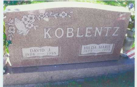 KOBLENTZ, DAVID J. - Meigs County, Ohio | DAVID J. KOBLENTZ - Ohio Gravestone Photos