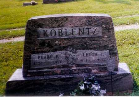 KOBLENTZ, LETHA F. - Meigs County, Ohio | LETHA F. KOBLENTZ - Ohio Gravestone Photos