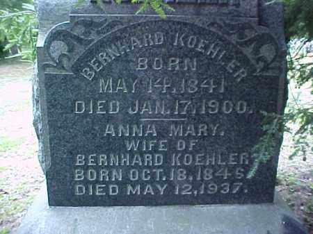 KOEHLER, BERNHARD - Meigs County, Ohio   BERNHARD KOEHLER - Ohio Gravestone Photos