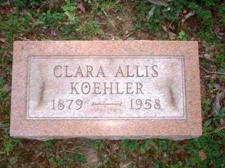 KOEHLER, CLARA ALLIS - Meigs County, Ohio | CLARA ALLIS KOEHLER - Ohio Gravestone Photos