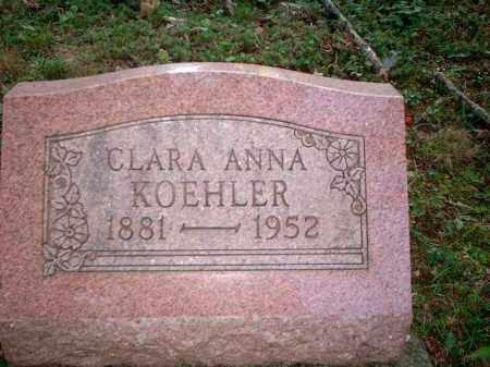 KOEHLER, CLARA ANNA - Meigs County, Ohio | CLARA ANNA KOEHLER - Ohio Gravestone Photos