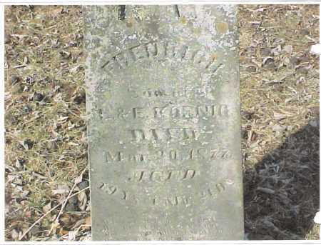 KOENIG, FREDERICK - Meigs County, Ohio | FREDERICK KOENIG - Ohio Gravestone Photos