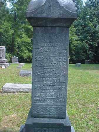 KOHL, ANDREW - Meigs County, Ohio | ANDREW KOHL - Ohio Gravestone Photos
