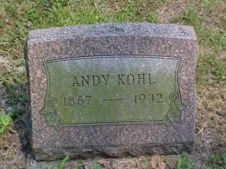 KOHL, ANDY - Meigs County, Ohio | ANDY KOHL - Ohio Gravestone Photos