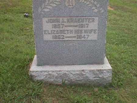 KRAEUTER, ELIZABETH - Meigs County, Ohio | ELIZABETH KRAEUTER - Ohio Gravestone Photos