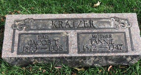 KRATZER, FANNIE - Meigs County, Ohio | FANNIE KRATZER - Ohio Gravestone Photos