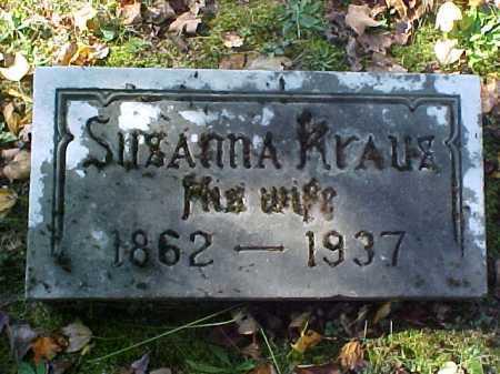 KRAUS, SUSANNA - Meigs County, Ohio   SUSANNA KRAUS - Ohio Gravestone Photos