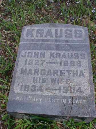 KRAUSS, MARGARETHA - Meigs County, Ohio | MARGARETHA KRAUSS - Ohio Gravestone Photos