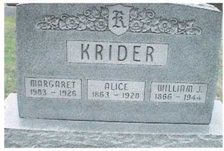 CURTIS KRIDER, ALICE - Meigs County, Ohio | ALICE CURTIS KRIDER - Ohio Gravestone Photos