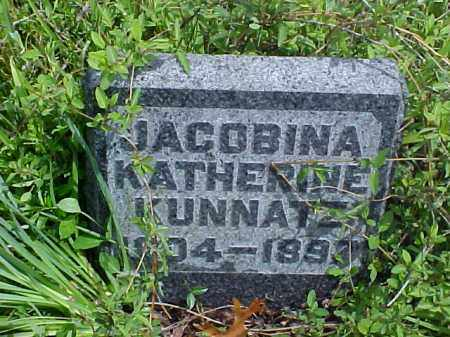 KUNNATZ, JACOBINA KATHERINE - Meigs County, Ohio   JACOBINA KATHERINE KUNNATZ - Ohio Gravestone Photos
