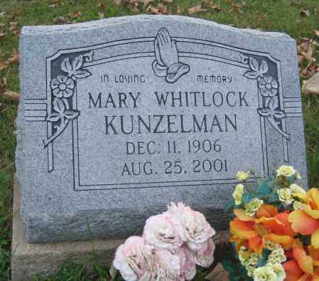 WHITLOCK KUNZELMAN, MARY - Meigs County, Ohio   MARY WHITLOCK KUNZELMAN - Ohio Gravestone Photos