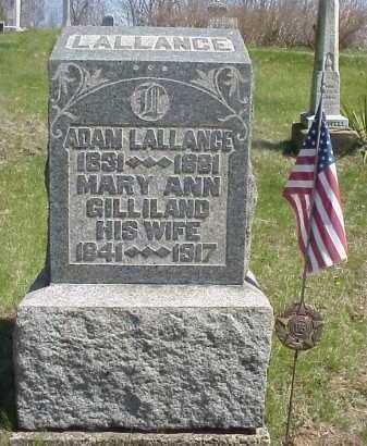 GILLILAND LALLANCE, MARY ANN - Meigs County, Ohio | MARY ANN GILLILAND LALLANCE - Ohio Gravestone Photos