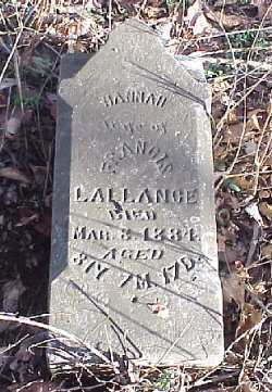 LALLANCE, HANNAH - Meigs County, Ohio | HANNAH LALLANCE - Ohio Gravestone Photos