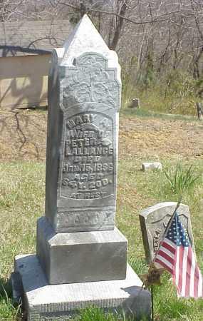 LALLANCE, MARY A. - Meigs County, Ohio | MARY A. LALLANCE - Ohio Gravestone Photos