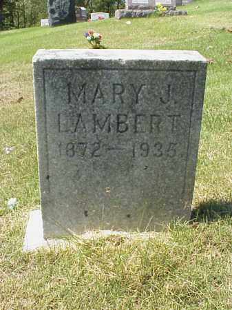 LAMBERT, MARY J. - Meigs County, Ohio | MARY J. LAMBERT - Ohio Gravestone Photos