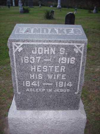 LANDAKER, HESTER - Meigs County, Ohio | HESTER LANDAKER - Ohio Gravestone Photos