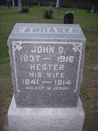 LANDAKER, JOHN S. - Meigs County, Ohio | JOHN S. LANDAKER - Ohio Gravestone Photos