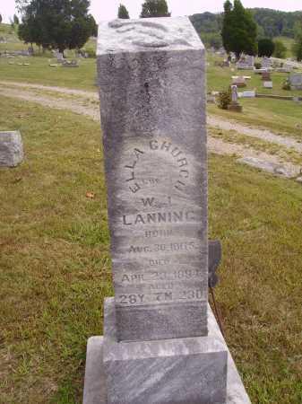 LANNING, ELLA - Meigs County, Ohio | ELLA LANNING - Ohio Gravestone Photos
