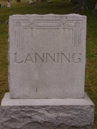 LANNING, MONUMENT - Meigs County, Ohio   MONUMENT LANNING - Ohio Gravestone Photos