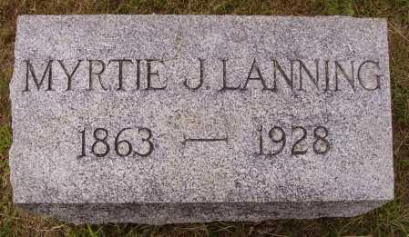 LANNING, MYRTLE J. - Meigs County, Ohio | MYRTLE J. LANNING - Ohio Gravestone Photos